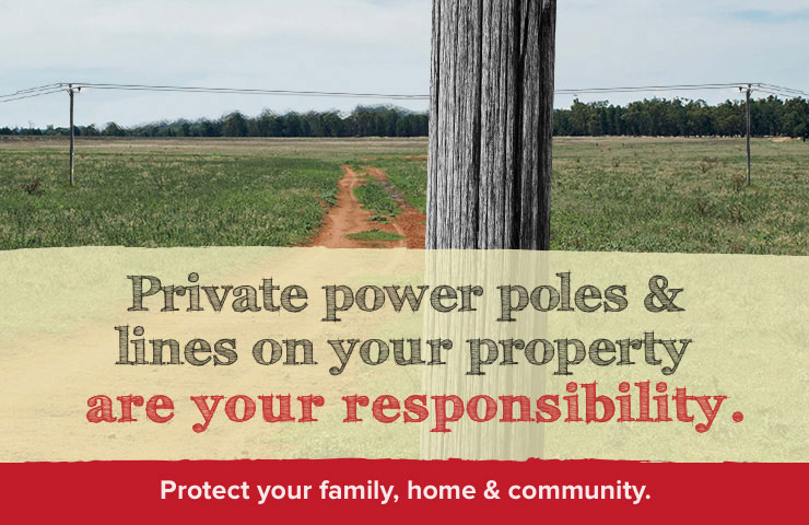 Private power poles and lines
