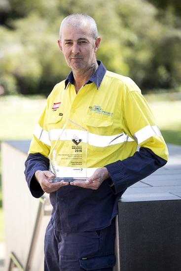 2016 Work Safety Awards winner - Tony Cannons from John Holland