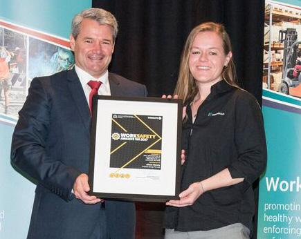 Alison Marais, CADDS Group - Best contribution to safety and health by an individual or team - Work Safety Awards 2017. Mr Stephen Price MLA for Forrestfield and Alison Marais