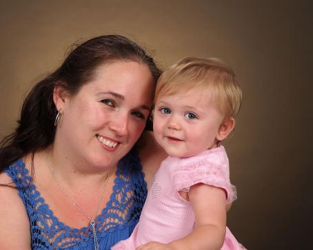 Andrea Wakefield with her late daughter Shelby