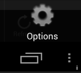 Android menu icon