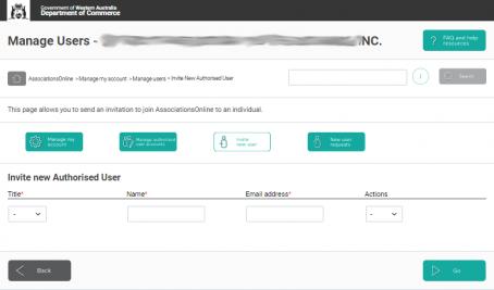 AssociationsOnline Invite User