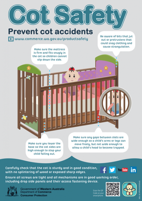 Cot safety - poster