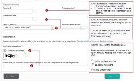 Creating a user - AssociationsOnline part 2