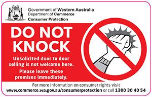 Do not knock campaign department of mines industry - Office of the consumer protection board ...