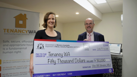 Tenancy WA grant August 2018 Kate and Bill