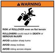 Quad bike safety label
