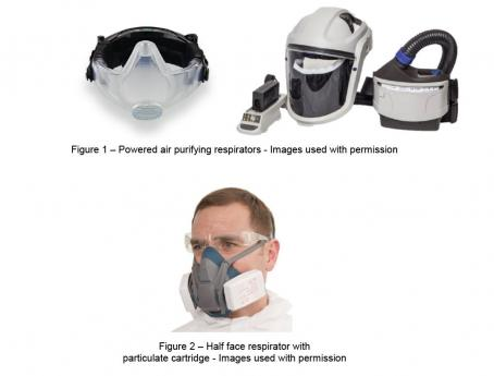 Samples of respiratory protective equipment (RPE)