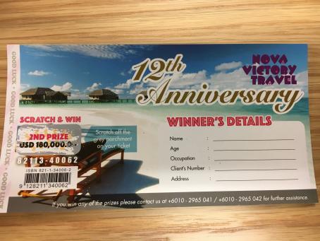 Winning scratchie in fake prize scam