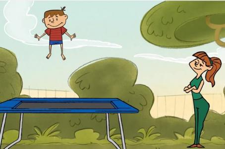 Jump on it - trampoline safety. Supervise