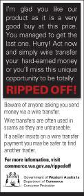 Ripped off: Wire transfer