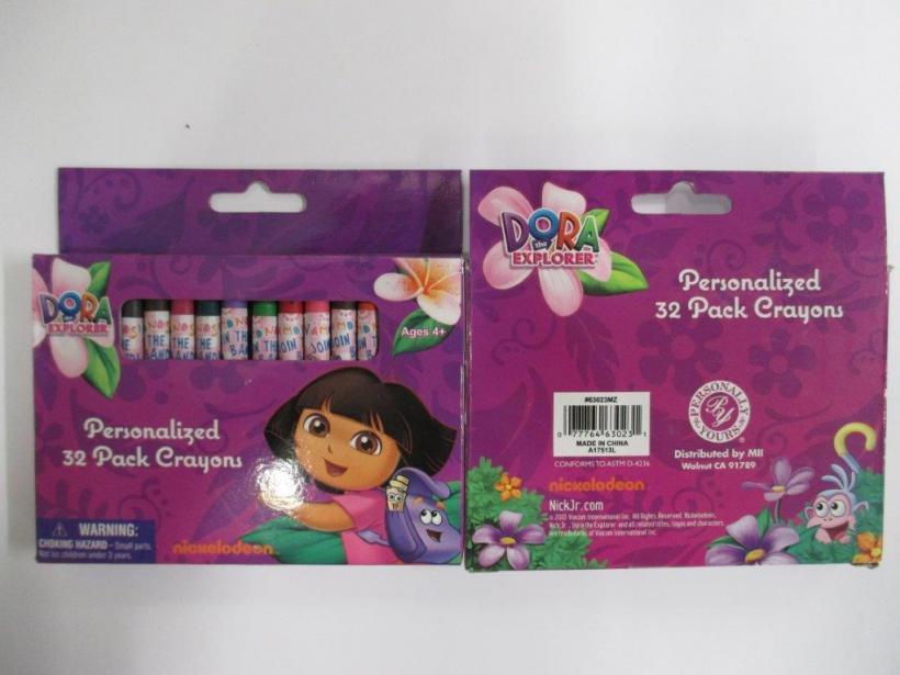 Dora the Explorer personalised crayons 32 pack