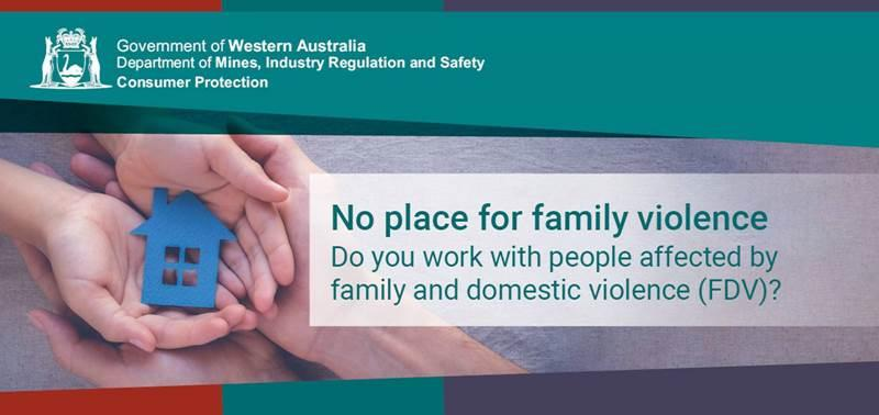 No place for family violence banner